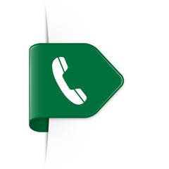 Phone - Dunkelgrüner Sticker Pfeil mit Schatten