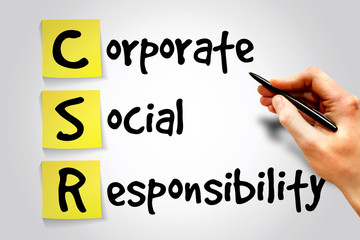 Corporate Social Responsibility (CSR) sticky note