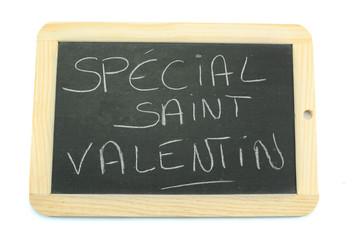 ardoise spécial saint-valentin