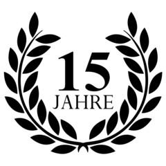 Lorbeerkranz. 15 jahre jubiläum