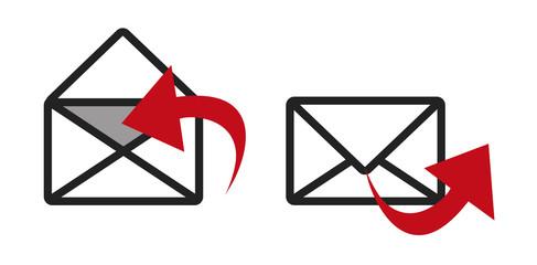 Enveloppes courrier picto vecteurs 3