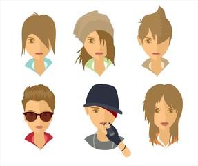Образы молодых людей