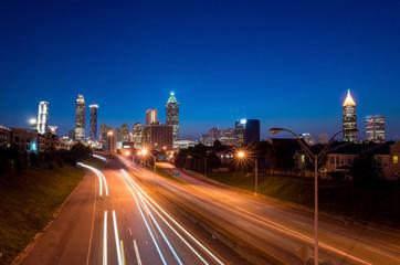 Atlanta downtown skyline during twilight