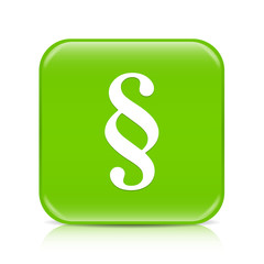Light green paragraph button icon with reflection