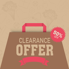 Big sale and  discount offer bag for Women's Day celebration.