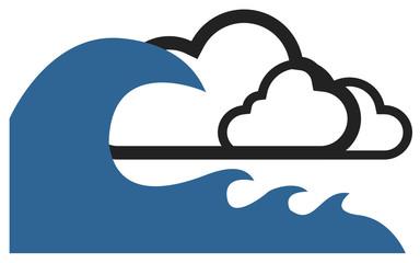 picto tempête catastrophe naturelle vecteurs 2