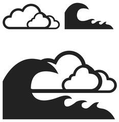 picto tempête catastrophe naturelle vecteurs