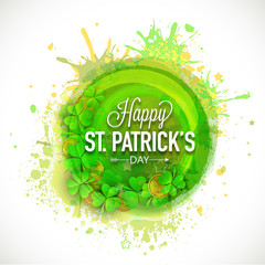 Greeting card design for Happy St. Patrick's Day celebration.