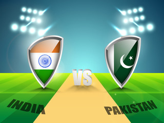 India vs Pakistan Cricket match concept.