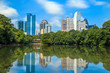 canvas print picture - Skyline and reflections of midtown Atlanta, Georgia