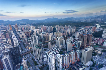 skyline,cityscape of modern city,shenzhen