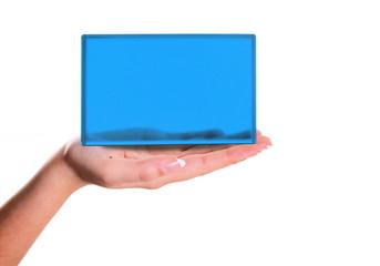empty screen in hand