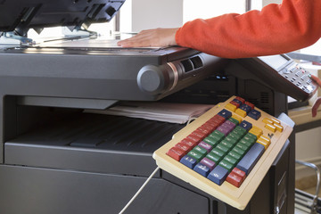 using the photocopier