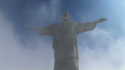 Shrouded in cloud Statue Jesus Christ the Redeemer Rio de Janeiro