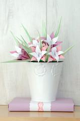 irises paper origami