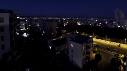 Aerial skyline view of Limassol city in evening, Cyprus
