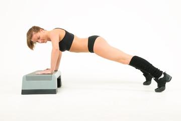 sport girl push-ups