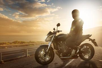 Motorbike on an Ocean Road