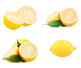 Isolated lemon collection