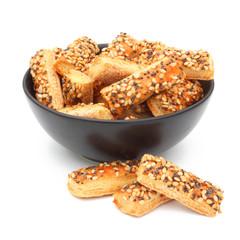 Biscuits apéritif - Feuilletés fromage sésame pavot