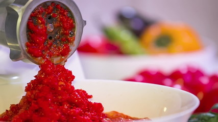 Process of Red Paprika Mincing