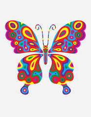Butterfly abstract colorfully, art vector illustration