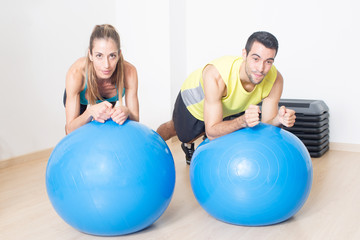 Balance training with medicine ball