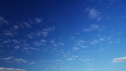 Time-lapse footage of Cloud movement under the clear blue sky