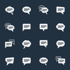 Simple speech bubble icons