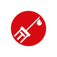 Syringe vector icon isolated.