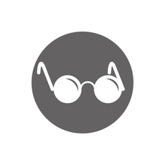 Glasses for the blind vector icon isolated.