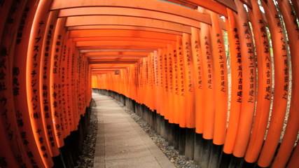 Fushimi Inari Taisha shrine Torii gates sacred temple Kyoto Japan Asia