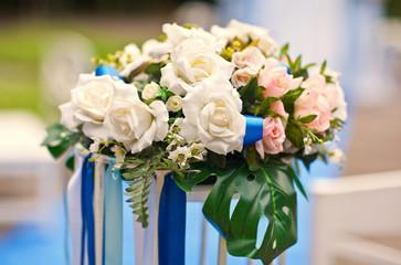 Wedding decoration of flowers