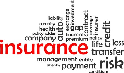 word cloud - insurance