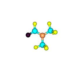Dimethylformamide molecule isolated on white