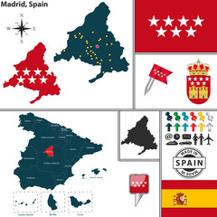Map of Madrid, Spain