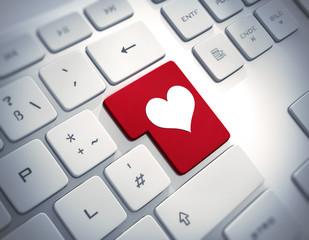 Tastatur mit Herzsymbol