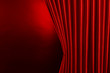 Leinwandbild Motiv Red Curtain on red background