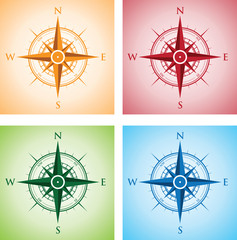 colourful set of compasses