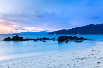 Sunset on the seashore of Koh Lipe Island