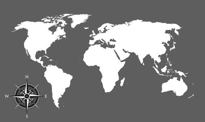 world map and compass background