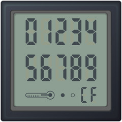digital count clock watch, with different numbers