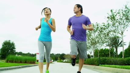 Happy Ethnic Couple Healthy Fitness Lifestyle