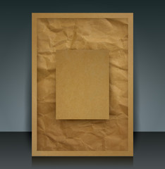Brown paper vector cover design template.
