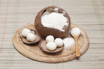 Sweets made from coconut flour