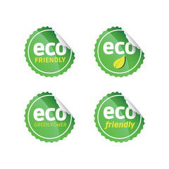 Eco Green Stickers Set