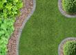 Garten, Rasen und Rindenmulch