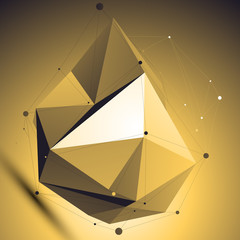 3D vector abstract colorful technology illustration, perspective