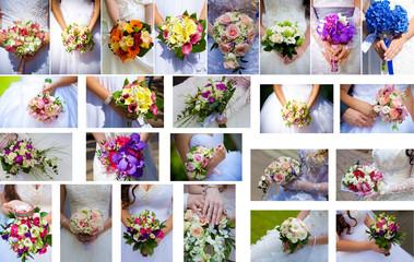 Set wedding bunch in hands