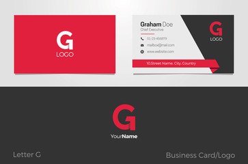 G Letter Logo Corporate Business card